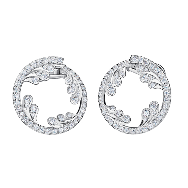 Wave Diamond Earrings