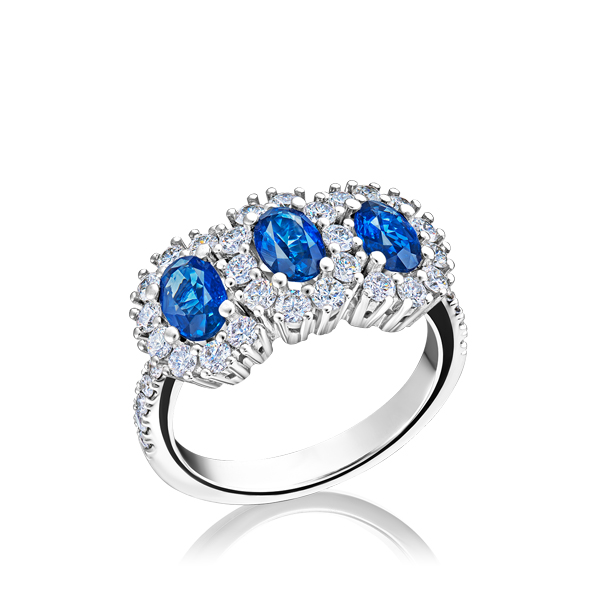 281b6270c2418 Sapphire rings - photos and prices in the catalog
